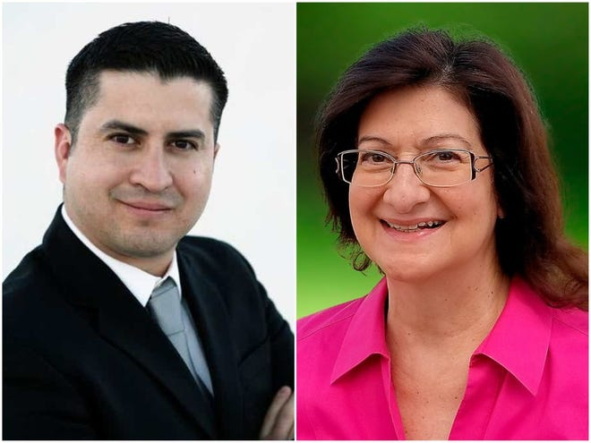 Doña Ana County Treasurer Eric Rodriguez, a Democrat, is facing Republican challenger Bernadette Dorazio this Nov. 3.