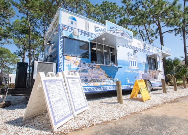 Greek's Catering & Events food truck along Summit Boulevard in Pensacola on Thursday, Oct. 1, 2020.