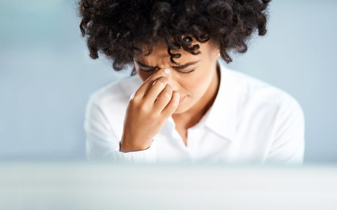 Signs of chronic sinusitis may include pain or pressure in the face or upper teeth, headaches, bad breath and low-grade fever.