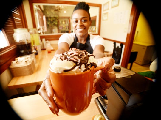 Shika Sims is one of the four owners of Neef's Coffee Corner in the Allendale neighborhood of Shreveport.