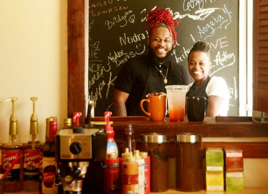 Jeremy Lee and Shika Sims are two of the four owners of Neef's Coffee Corner in the Allendale neighborhood of Shreveport.