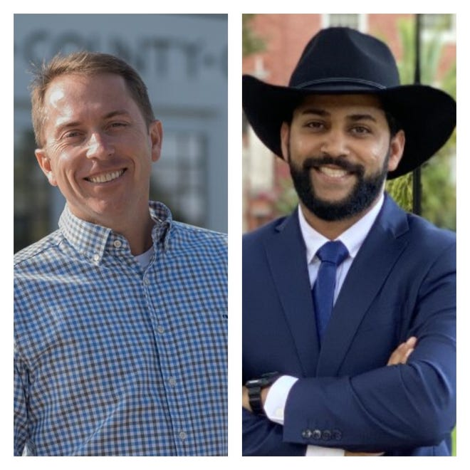 Candidates for Florida House, District 7, Jason Shoaf and Taymour Khan