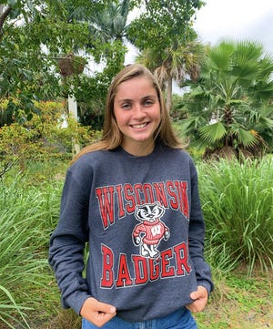 Jensen Beach junior swimmer Blair Stoneburg committed to the University of Wisconsin on Tuesday. Stoneburg is a two-time All-Area Swimmer of the Year.