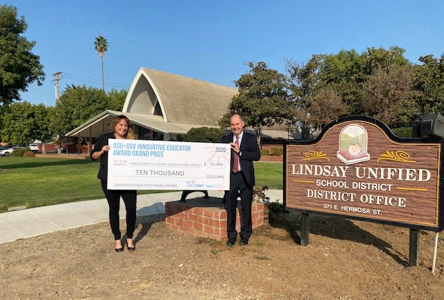Lindsay Unified School District was recognized for its technological excellence during the coronavirus pandemic.