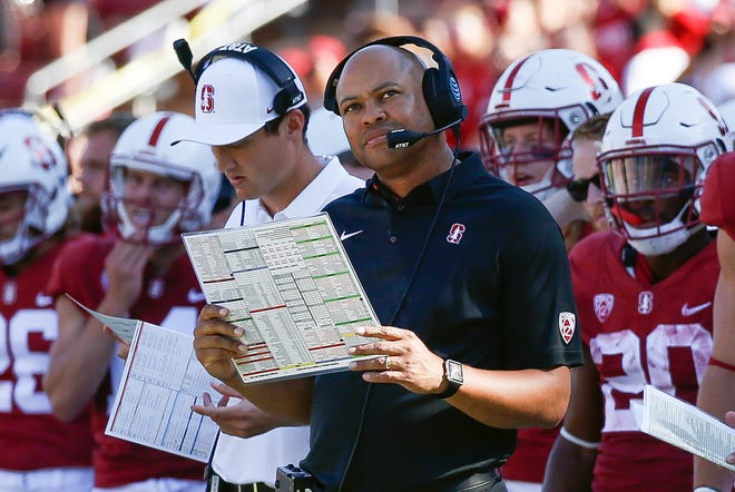 Stanford coach David Shaw is looking to bounce back after last year's 4-8 finish, which was the Cardinal's first losing season in his nine years leading the program.
