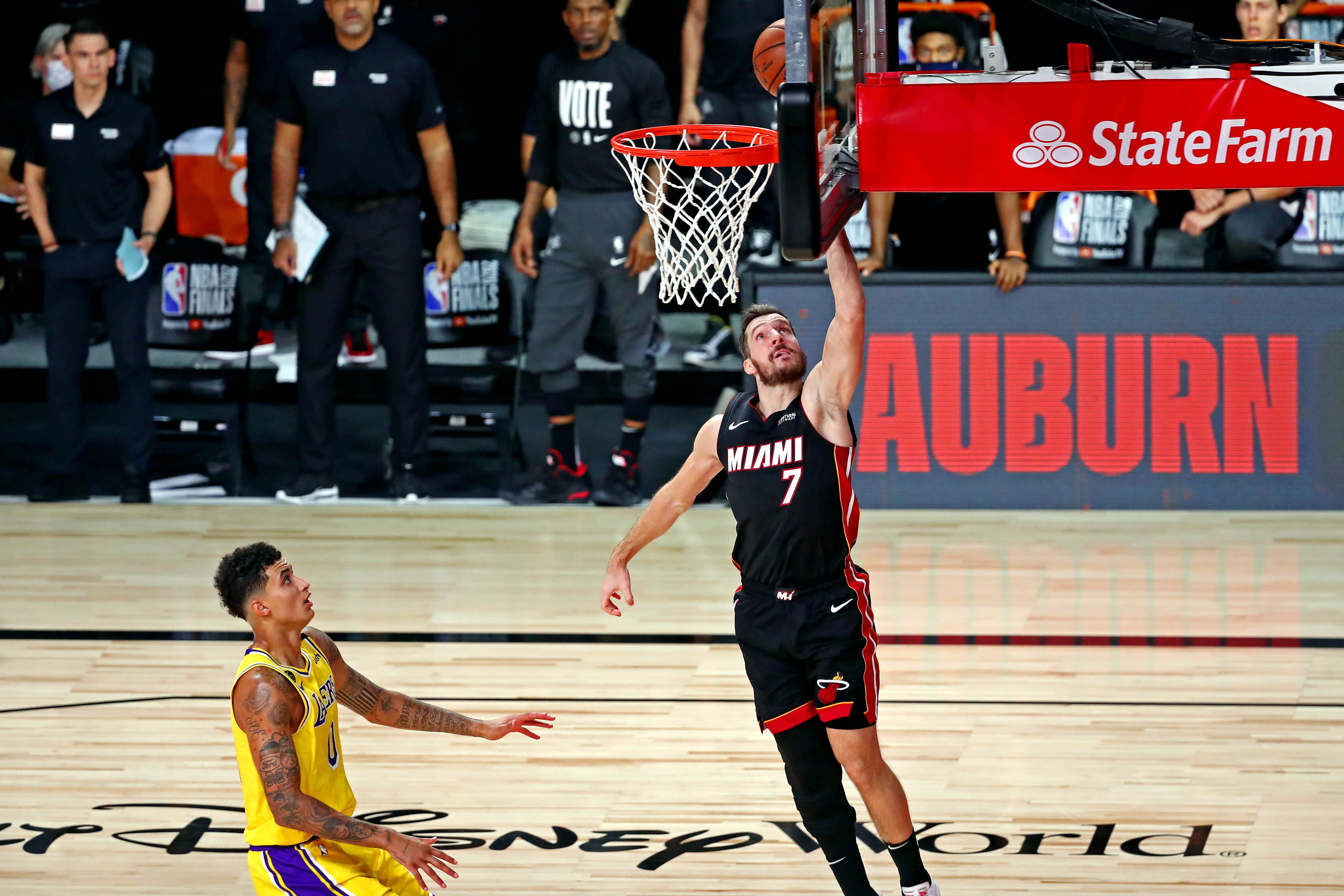 Heat hit with multiple injuries to starters in loss to Lakers in Game 1 of NBA Finals