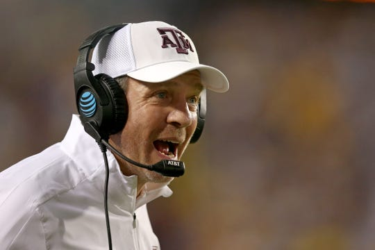 Texas A&M coach Jimbo Fisher will lead his No. 13 Aggies against No. 2 Alabama on Saturday.