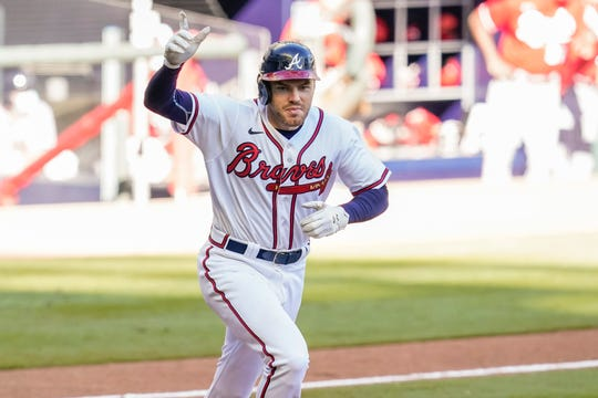 Braves first baseman Freddie Freeman hit .341 with 13 homers and 53 RBI during the regular season, but no hit was bigger than his walk-off single in Game 1 of the wild card series vs. the Reds.