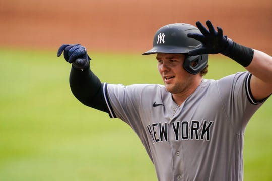 Yankees first baseman Luke Voit led the majors with 22 home runs.