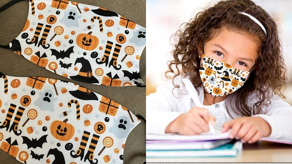 You can choose from 12 different Halloween prints with these masks.