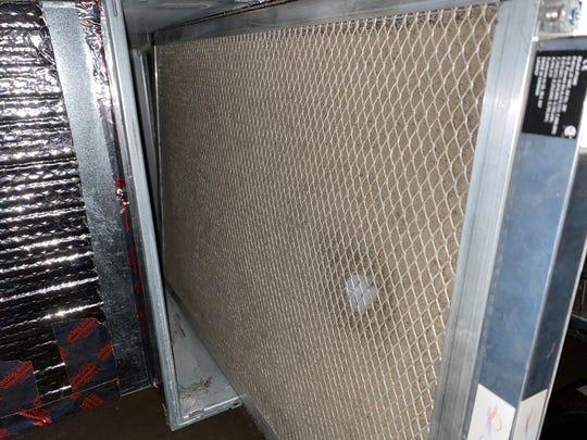 Jennifer Jolly's HVAC filter.