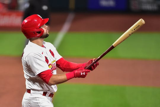 Rookie outfielder Dylan Carlson batted cleanup for the Cardinals in Game 1.