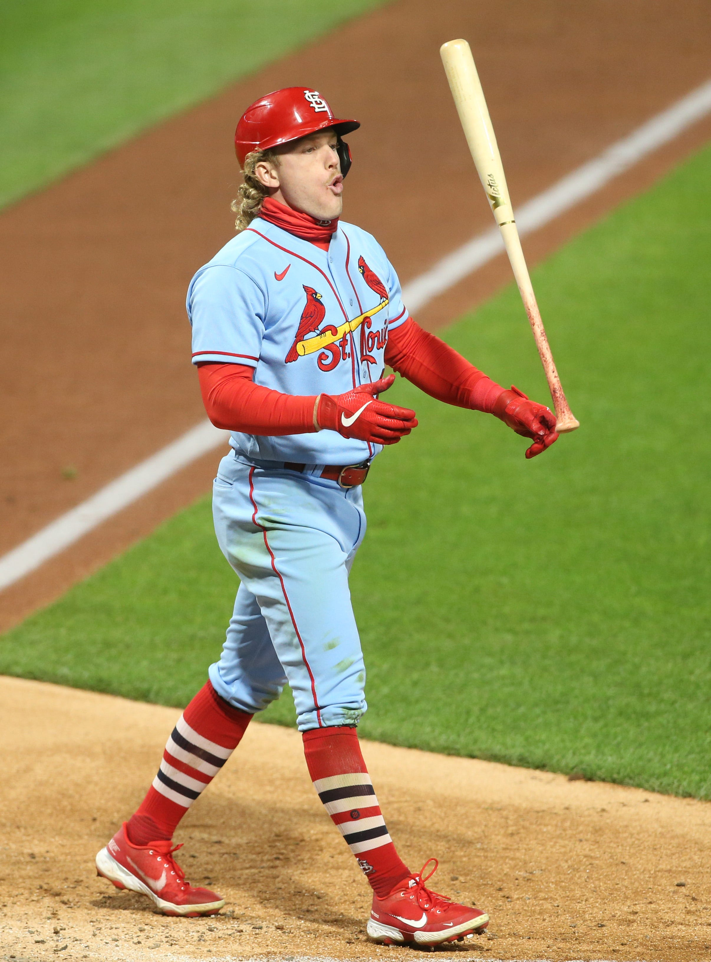 Cardinals' Harrison Bader strikes out five times, tying unfortunate postseason record