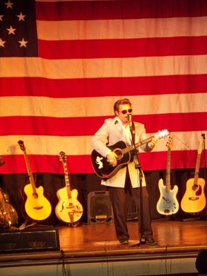 """Loudonville musician, entertainer and councilman Matt Young performs at a benefit concert at the Ohio Theatre a few years ago. Young spoke on the history of rock and roll at a Rotary Club meeting recently, and will provide a program """"Tribute to Rock and Roll Pioneers"""" on Saturday, Oct. 24 at 7 p.m., at the theater."""