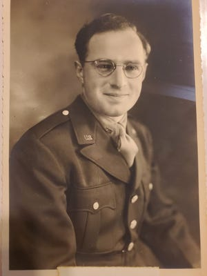 Late World War II veteran Jay Warren Bader's Army jacket, shown here, was stolen from his widow's porch in August in Perkasie. The borough, hoping to lift her spirits, will fund the purchase of a tribute banner in his memory.