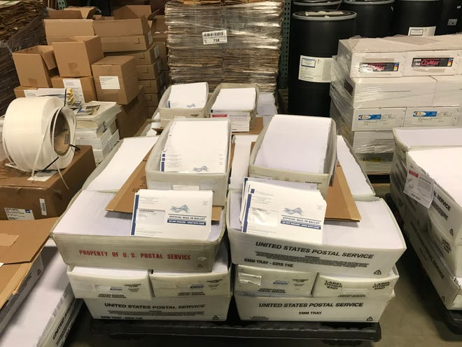 Burlington County has announced some vote-by-mail ballots, seen here, were sent out to voters with the wrong envelopes.