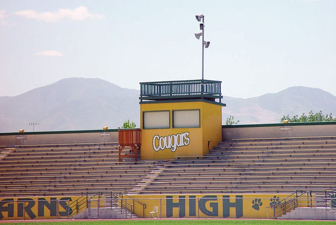 As of the early 2000's, the Kearns High School pressbox remained the same as it had been for more than 30 years.