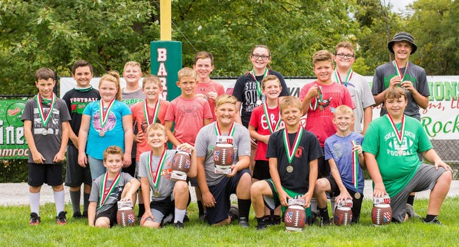 Recently, the Barnesville Kiwanis Club had its recent Kiwanis, Punt, Throw and Kick Contest. The top three winners from each group are being announced. They are: Age 8 – Gunner Dudzik, Trey Bethel and Luke Fuchs; Age 9 – Colt Carpenter, Braxton Byers, Parker Sobutka; Age 10 – Hines Ford, Cole Francis, Christien Hannahs; Age 11 – Ayden King, Casey Carpenter, Marshall Meade; Age 12 – Austin Leek, Aydon VanHorn, Blake Kirk; and Age 13 – Skylar King. The Barnesville Kiwanis Club would like to thank the BHS Key Club members and advisor Corey Powell, all the Kiwanis members that helped and all the individuals who came out to the stadium and help with our contest. Your support is greatly appreciated.