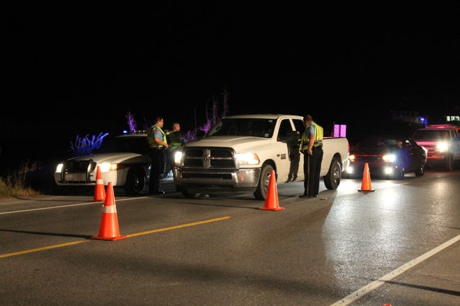 A recent DWI checkpoint in Lafourche.