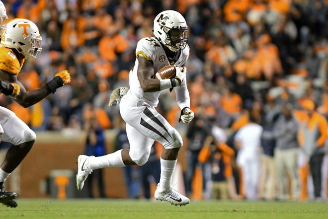 Missouri running back Larry Rountree III (34) and the Tigers return to Knoxville Saturday to take on the Tennessee Volunteers at Neyland Stadium, where MU is 3-1.