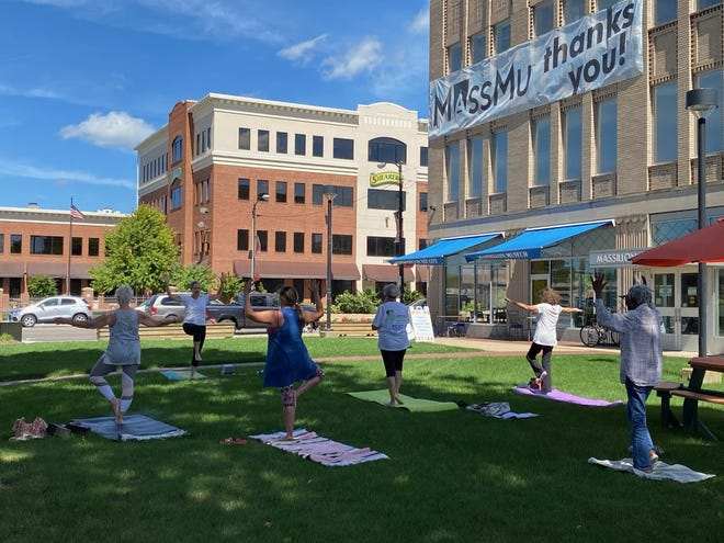 The Massillon Museum is hosting yoga sessions on the lawn from 12:30 to 1:15 p.m. Fridays.