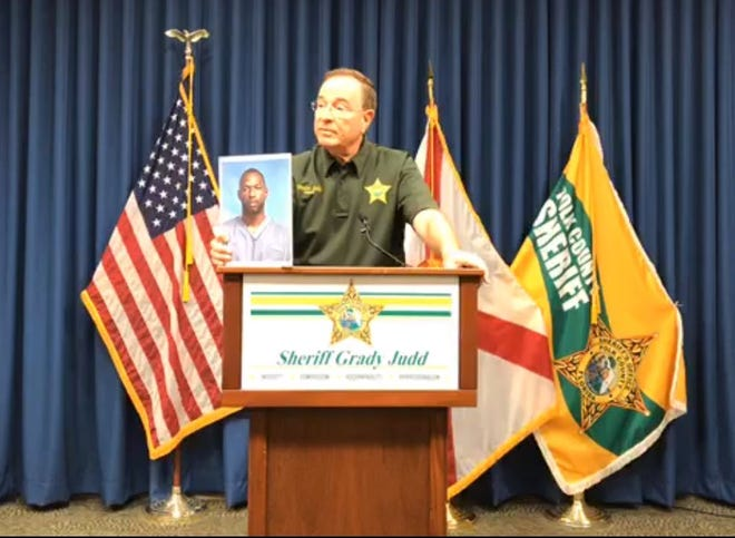 Polk Sheriff Grady Judd holds news conference to share details about a suspect he said tried to carjack several vehicles on I-4 Friday, causing at least two crashes on the interstate.