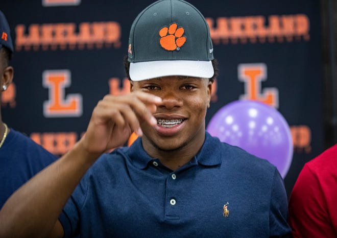Lakeland's Demarkcus Bowman signed with Clemson during a signing ceremony at Lakeland High School in December of 2018. He made the decision this week to leave Clemson and enter the transfer portal.