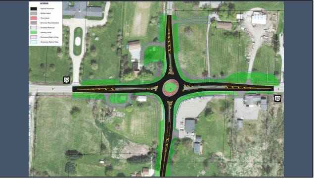The Ohio Department of Transportation has proposed a roundabout in Mantua Township.