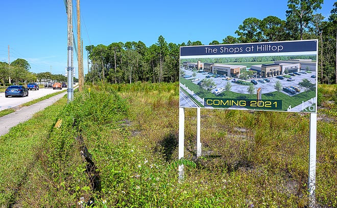 The Shops at Hilltop on State Road 207 in St. Augustine will break ground in November and feature 28,000 square feet of space for restaurants, shopping and small offices.