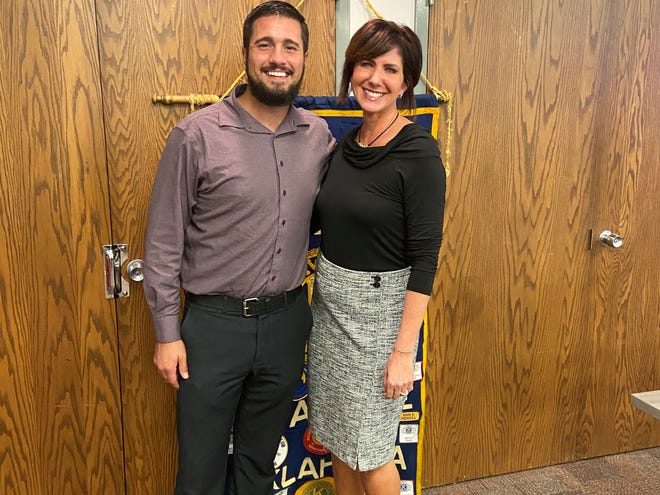 Kevin Hurley and Tina Hanna, of South Central Industries, were the featured speakers during this week's Kiwanis Club meeting.