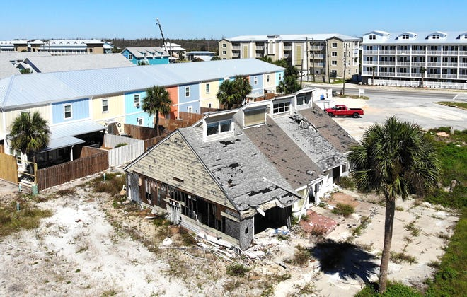 An aerial view of Mexico Beach on Sept. 30, 2020. Hurricane Michael destroyed hundreds of homes and buildings in Mexico Beach on Oct. 10, 2018.