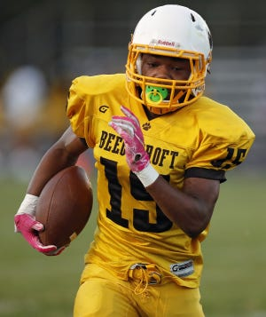 Diante Latham helped Beechcroft defeat Northland 30-8 on Oct. 1. Latham scored on a 4-yard run and a 74-yard reception.