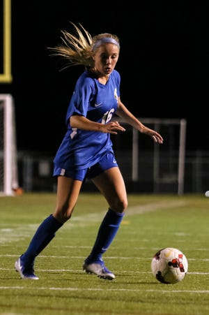 Midfielder Carly Ross has helped the Olentangy girls soccer team find success despite a rugged schedule. The Braves were 8-2-1 overall and 2-0 in the OCC-Cardinal Division before playing Hilliard Darby on Oct. 1.