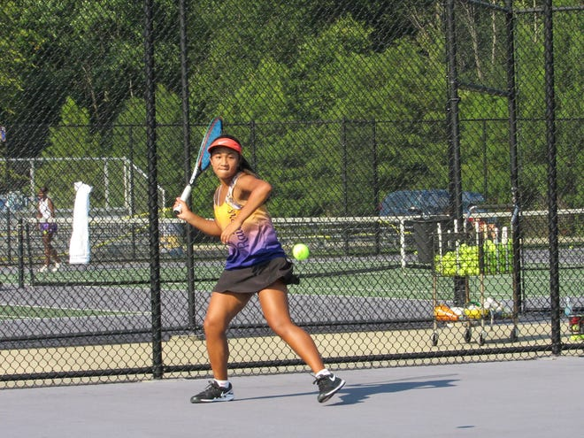 Kareen Meoko and the Reynoldsburg girls tennis team are preparing for a Division I sectional tournament that will be held Thursday, Oct. 8, and Saturday, Oct. 10, on the Raiders' home courts. Reynoldsburg is enjoying a breakthrough season, standing at 15-7 as of last week.