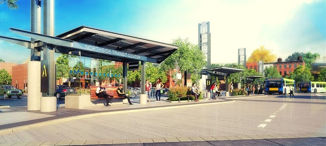 A rendering of the Northside Transit Center
