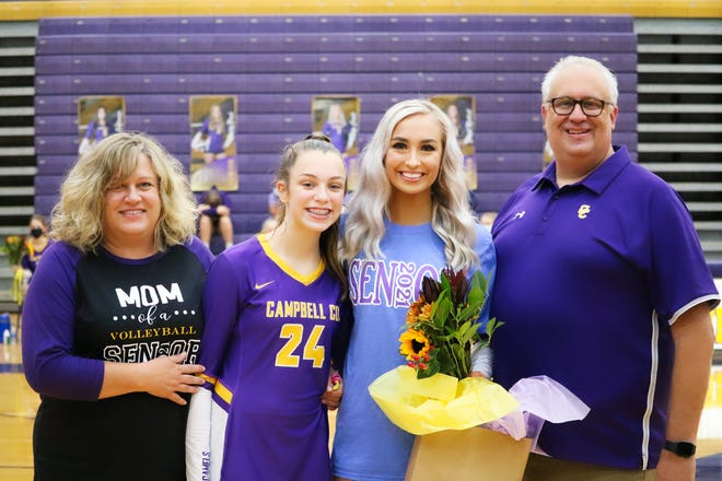 Olivia Crowl and her family celebrated Senior Night when Campbell County volleyball played Boone County Sept. 26.