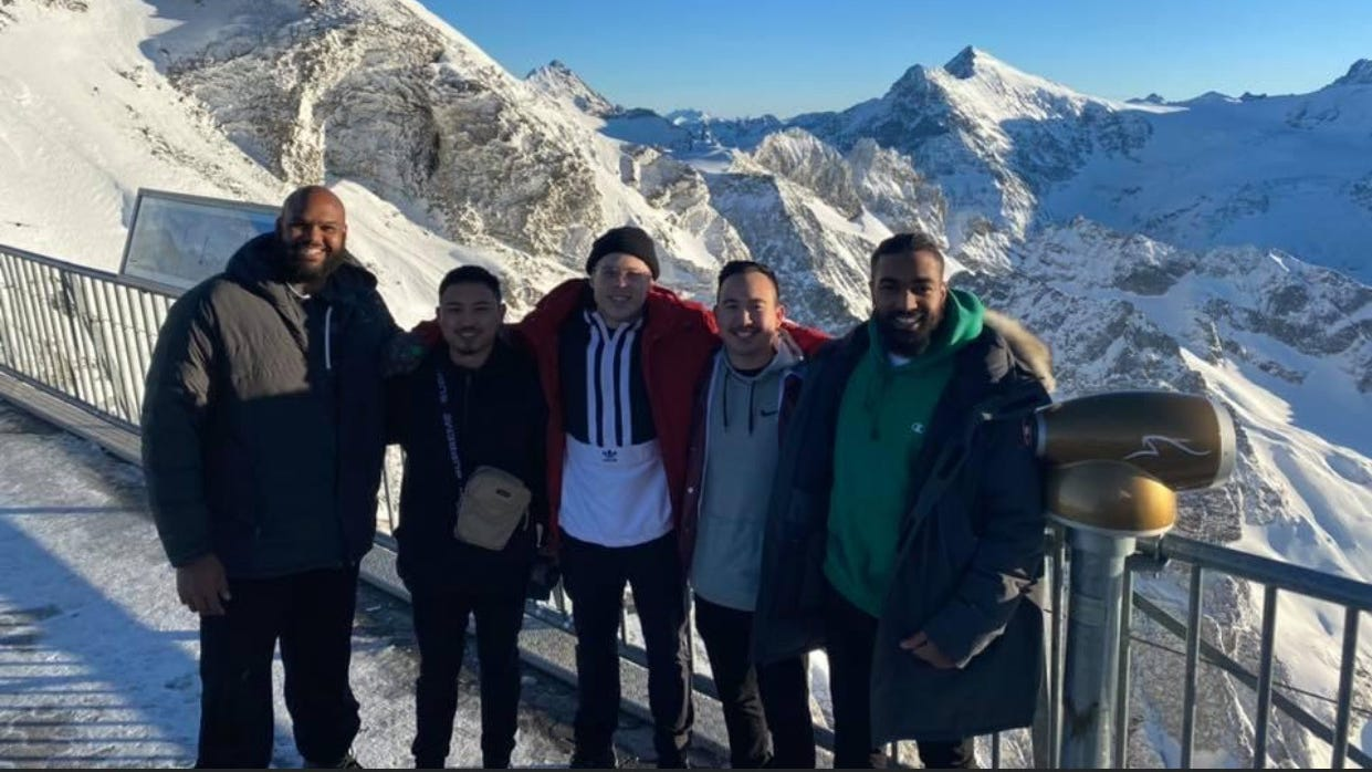 Detroit Lions OT Tyrell Crosby took a trip to Europe in February with four friends, spending a day at the Dachau concentration camp.