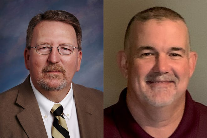 Incumbent Brian Defreese, left, faces Dustin Robinson, right, for the District 6 seat on the Tippecanoe School Corp. board.