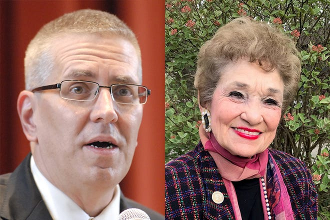 State Rep. Sheila Klinker, right, a Lafayette Democrat, is being challenged by Lafayette Republican James Hass, left, in Indiana House District 27.