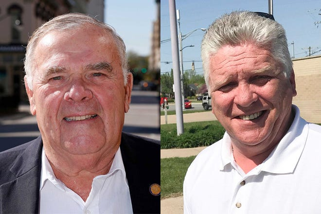 U.S. Rep. Jim Baird, left, a Greencastle Republican, is being challenged by Lafayette Democrat Joe Mackey, right, for Indiana's 4th District seat in the U.S. House of Representatives.