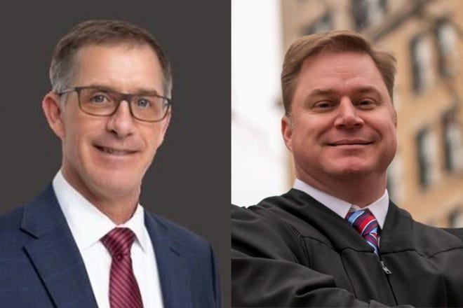 Repulican Matt Sandy, left, and Democrat Matthew Boulac, rigth, are running for judge of Tippecanoe Superior Court 4.