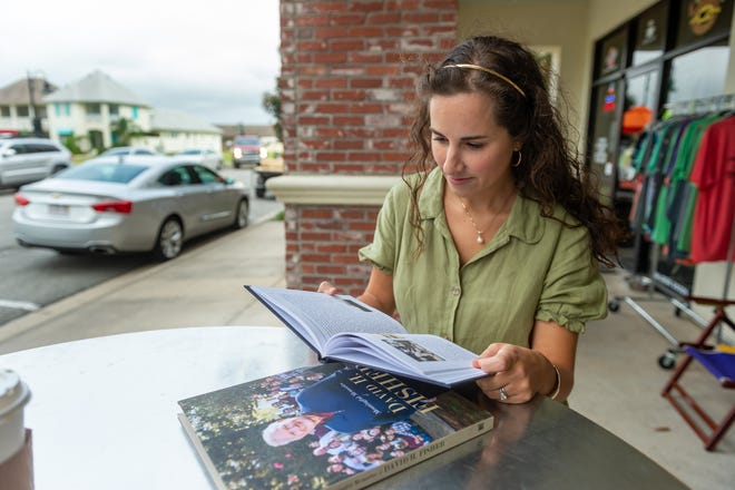 Olivia Spallino Savoie hopes to preserve fleeting memories and personal histories of people by recording them into a family heirloom book through her business Raconteur Story Writing Services.