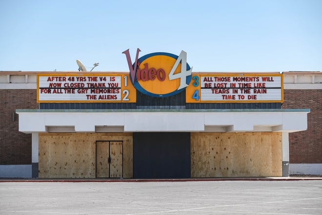 The Video 4 theater announces they will close their doors permanently. The theater is pictured on Friday, Oct. 3, 2020.