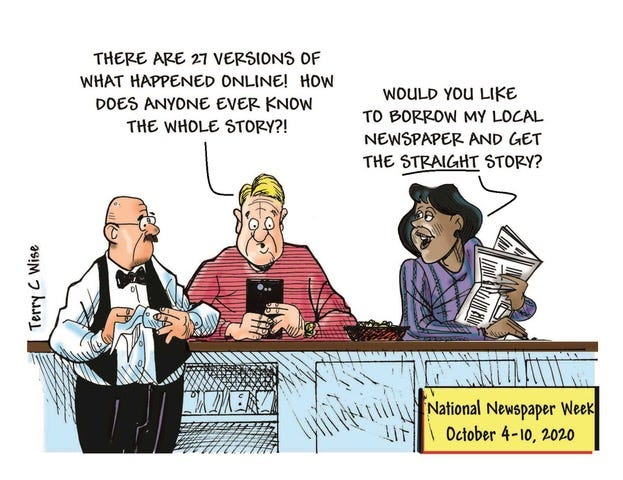Terry C. Wise drew this editorial cartoon.
