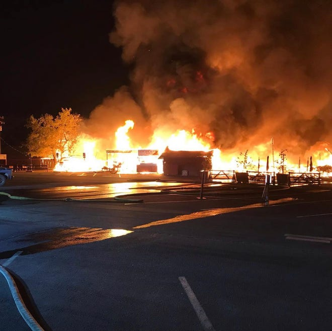 A fire at the Los Rios Ranch in Oak Glen was reported at 2:15 a.m. Friday.