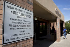 An Arizona Department of Transportation Motor Vehicle Division office in Chandler.