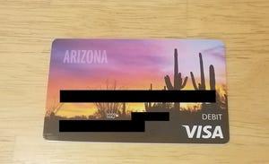 Arizona Department of Economic Security Visa debit card