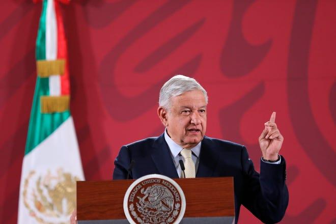 El presidente de México, Andrés Manuel López Obrador, ofrece su rueda de prensa matutina en el Palacio Nacional de Ciudad de México (México).