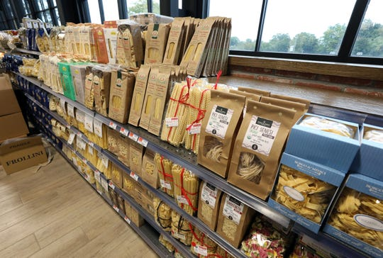 Some of the Italian goods at the new DeCicco & Sons at 777 White Plains Road in Eastchester, Oct. 2, 2020.