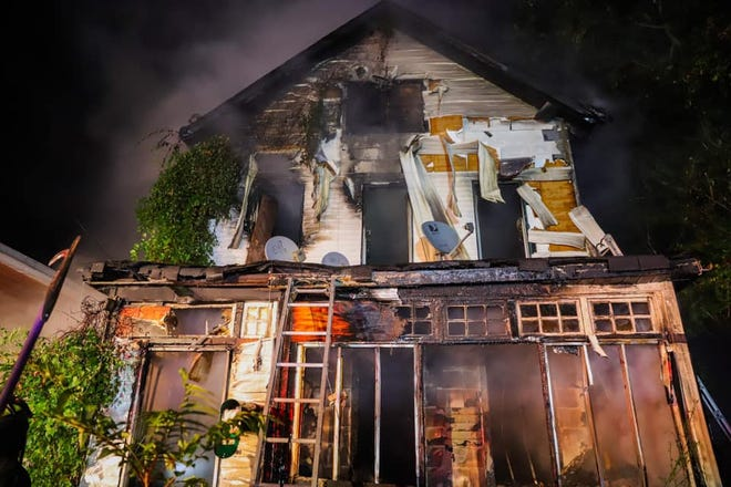 This Mount Vernon home, at 151 Union Ave., was allegedly set on fire during a domestic fight on Sept. 28, 2020.